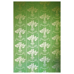'Lucky Charms' Contemporary, Traditional Wallpaper in Georgian Green