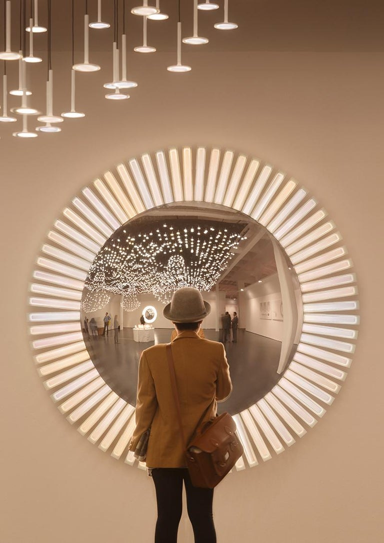 Lucky Eye OLED Wall Mirror or Wall Sculpture with Lights Designed by Aldo Cibic 2