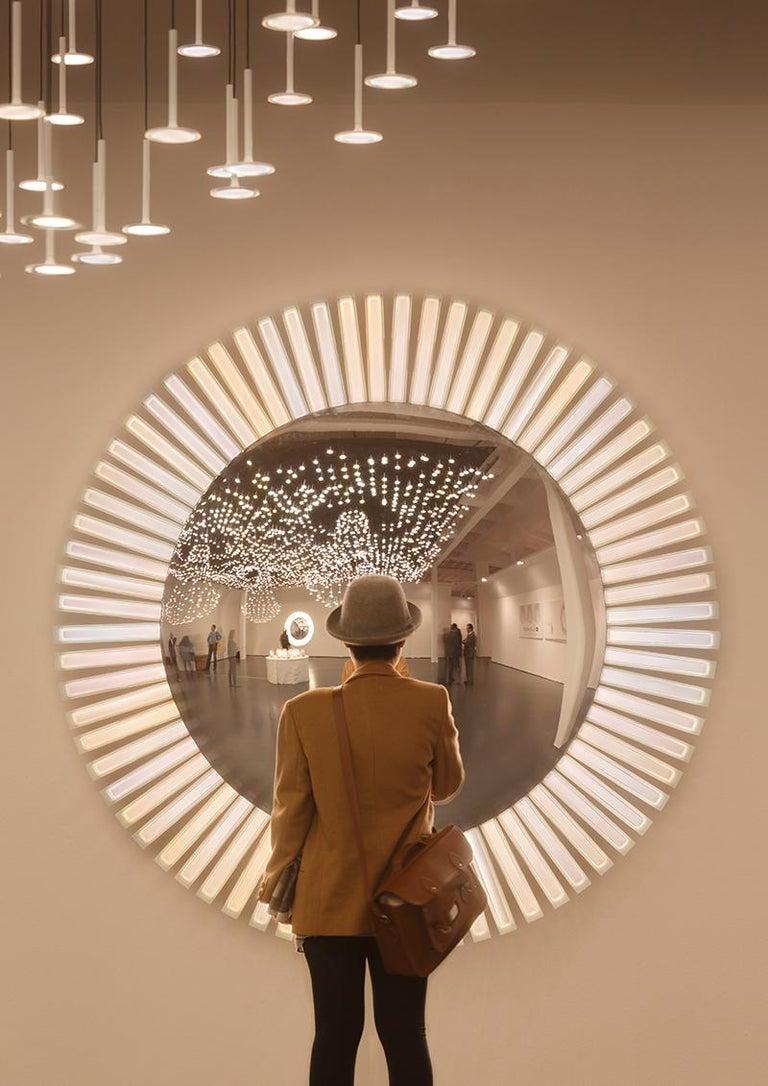 Lucky Eye OLED-Wandspiegel oder Wandskulptur mit Lichtern, Entworfen von Aldo Cibic 2