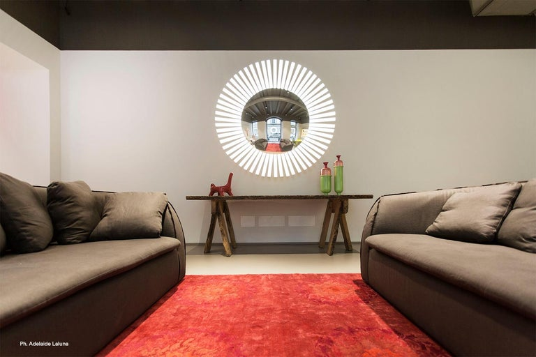 Lucky Eye OLED Wall Mirror or Wall Sculpture with Lights Designed by Aldo Cibic 6