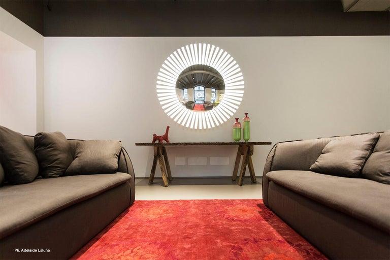 Lucky Eye OLED-Wandspiegel oder Wandskulptur mit Lichtern, Entworfen von Aldo Cibic 6