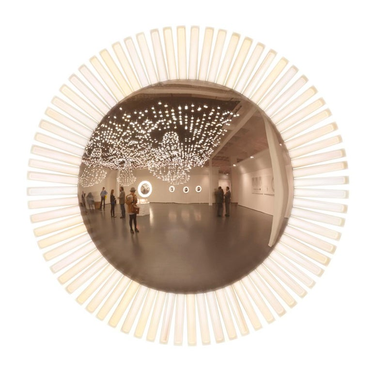 Lucky Eye OLED Wall Mirror or Wall Sculpture with Lights Designed by Aldo Cibic 1