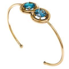 """""""Lucky Number"""" 18 Karat Rose Gold and Topaz Bracelet"""
