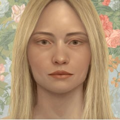 STUDY OF REBEKAH, Portrait of Woman, Blond Hair, Hyper-Realist