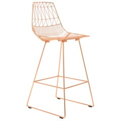 Lucy Bar Stool in Copper by Bend Goods