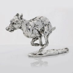 Lucy Kinsella 'Bunched Terrier'  Sterling Silver Scculpture