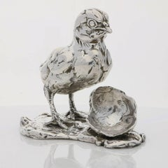 Lucy Kinsella 'Chicken & Egg' Sterling Silver Sculpture