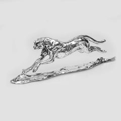 Lucy Kinsella 'Running Cheetah' Sterling Silver Sculpture