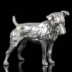 'Patterdale Terrier' Sterling Silver Limited Edition Sculpture by Lucy Kinsella
