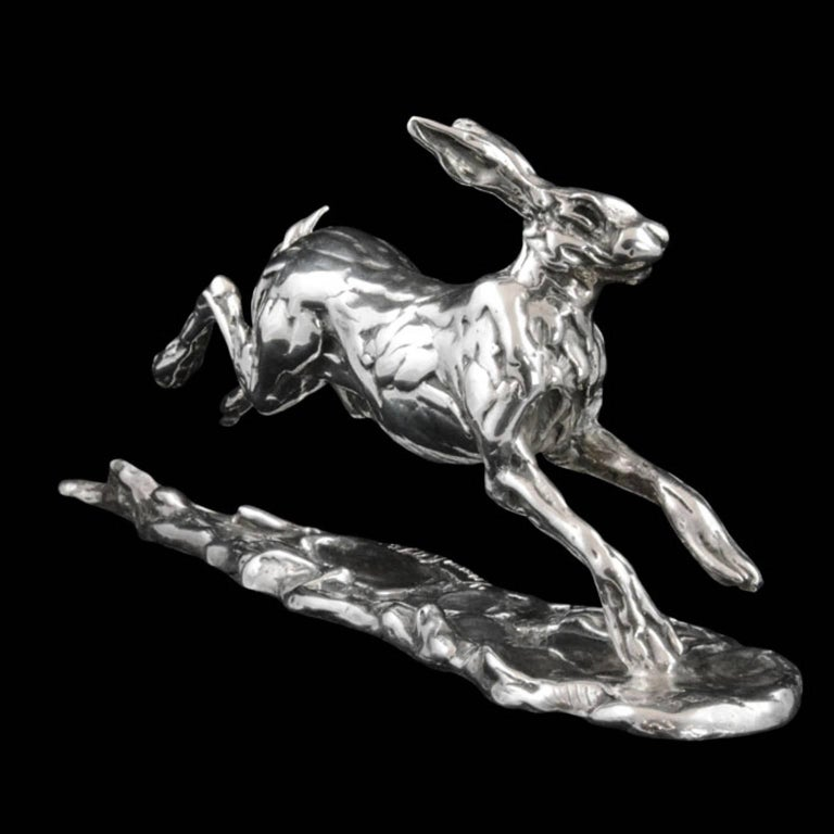 Running Hare - Contemporary Sculpture by Lucy Kinsella