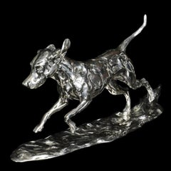 """Running Hound"" Sterling Silver by Lucy Kinsella"