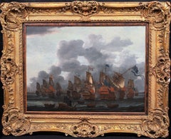 The Battle Of Texel, 17th Century Attributed to Ludolf I Backhuysen (1630-1708)
