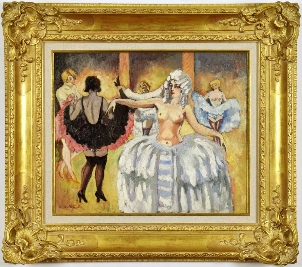 Cabaret Dancers by LUDOVIC-RODO PISSARRO - Post-Impressionist Art, Paris Scenes