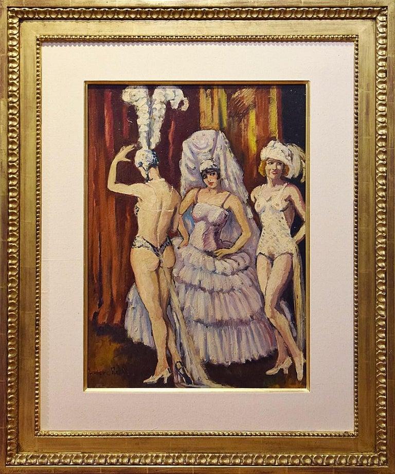 Cabaret Dancers, Oil on Canvas by Ludovic-Rodo Pissarro For Sale 1