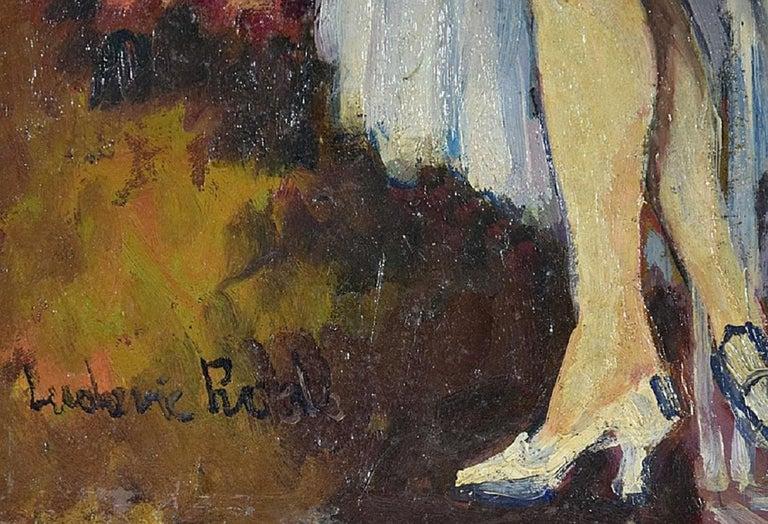 Cabaret Dancers, Oil on Canvas by Ludovic-Rodo Pissarro For Sale 2