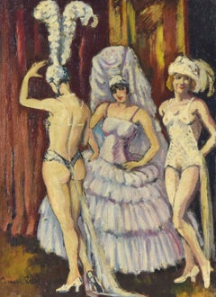 Cabaret Dancers, Oil on Canvas by Ludovic-Rodo Pissarro