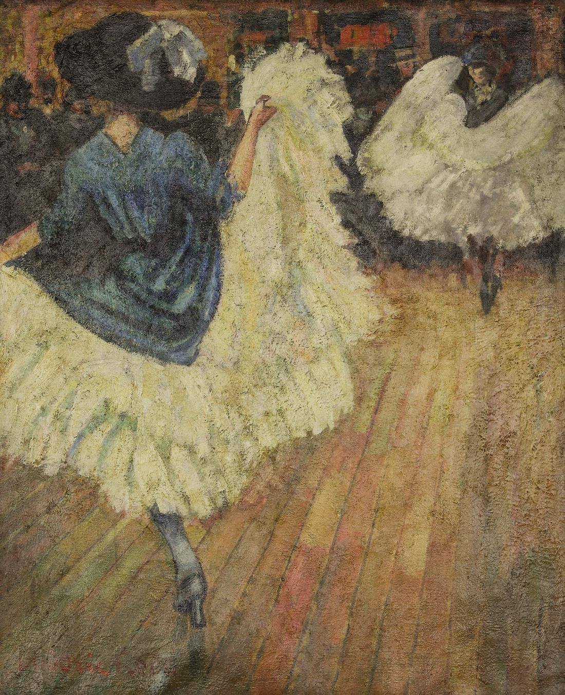 French Cancan by Ludovic-Rodo Pissarro - Post-Impressionist painting, c. 1906
