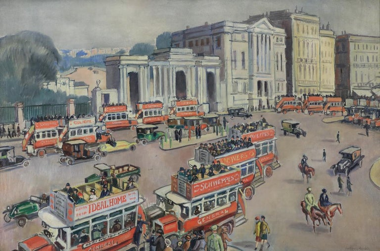 Hyde Park Corner oil painting by Ludovic-Rodo Pissarro For Sale 1