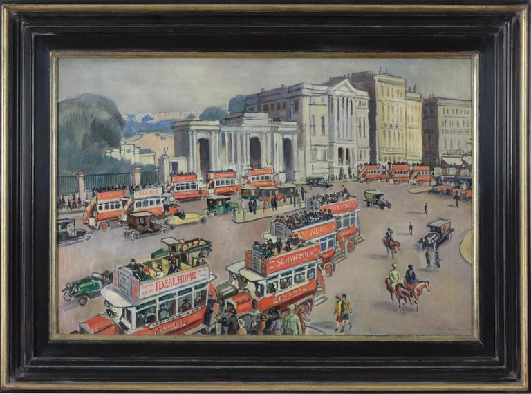 Hyde Park Corner by Ludovic-Rodo Pissarro  Oil on canvas 54.4 x 81 cm (21 ¹/₂ x 32 inches) Signed lower rightLudovic Rodo  This work is accompanied by a certificate of authenticity from Lélia Pissarro.  Provenance Private collection, UK  Exhibition
