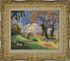 Kew Gardens, London by Ludovic-Rodo Pissarro - Park scene, landscape art