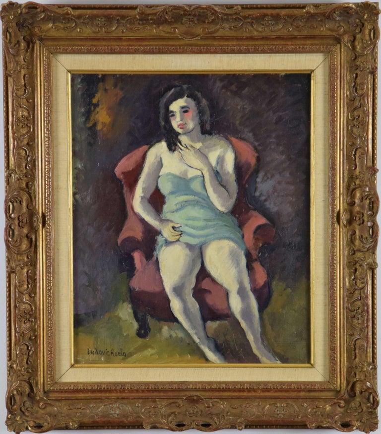 Ludovic-Rodo Pissarro Figurative Painting - Seated Woman by LUDOVIC RODO-PISSARRO - Portrait Art, Fauvist Oil Painting