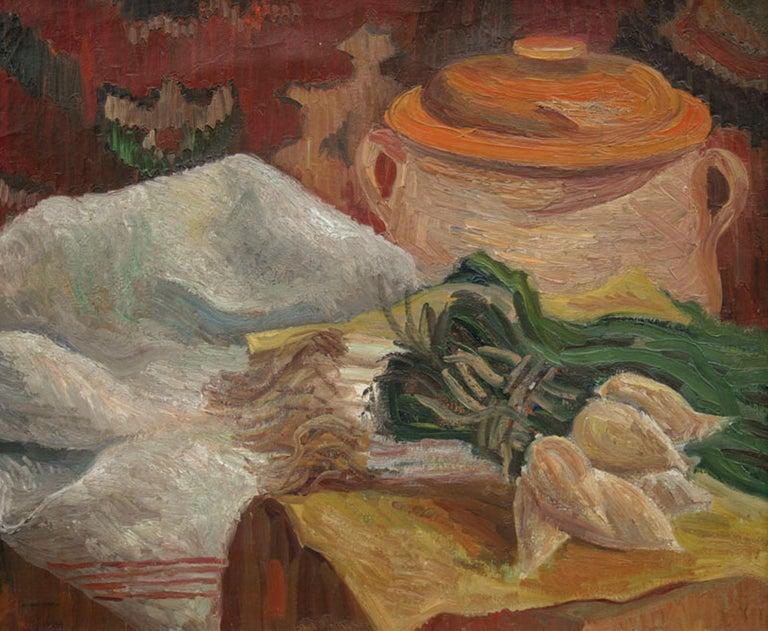 Ludovic-Rodo Pissarro Figurative Painting - Still Life (Nature Morte) figurative oil painting by Ludovic Rodo Pissarro