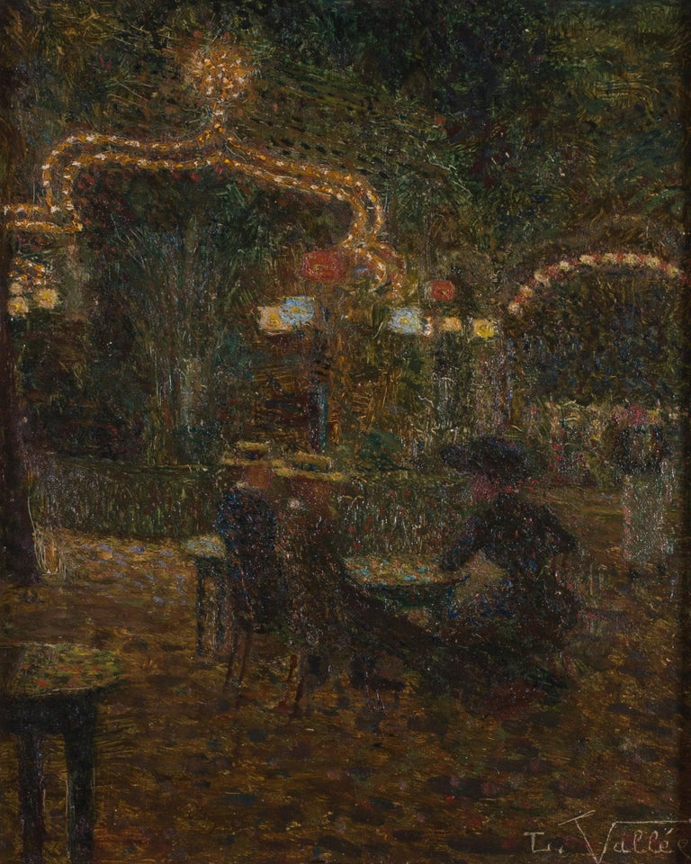 Belle Epoque Post Impressionist oil painting by French artist Ludovic Vallee For Sale 2