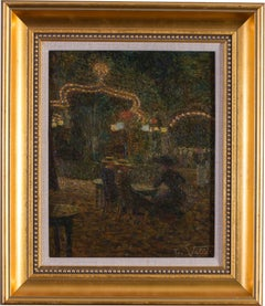 Belle Epoque Post Impressionist oil painting by French artist Ludovic Vallee