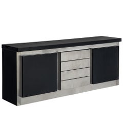 Ludovico Acerbis Sideboard in Darkened Oak and Aluminium