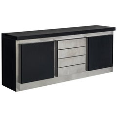 Ludovico Acerbis Sideboard in Stained Oak and Aluminium