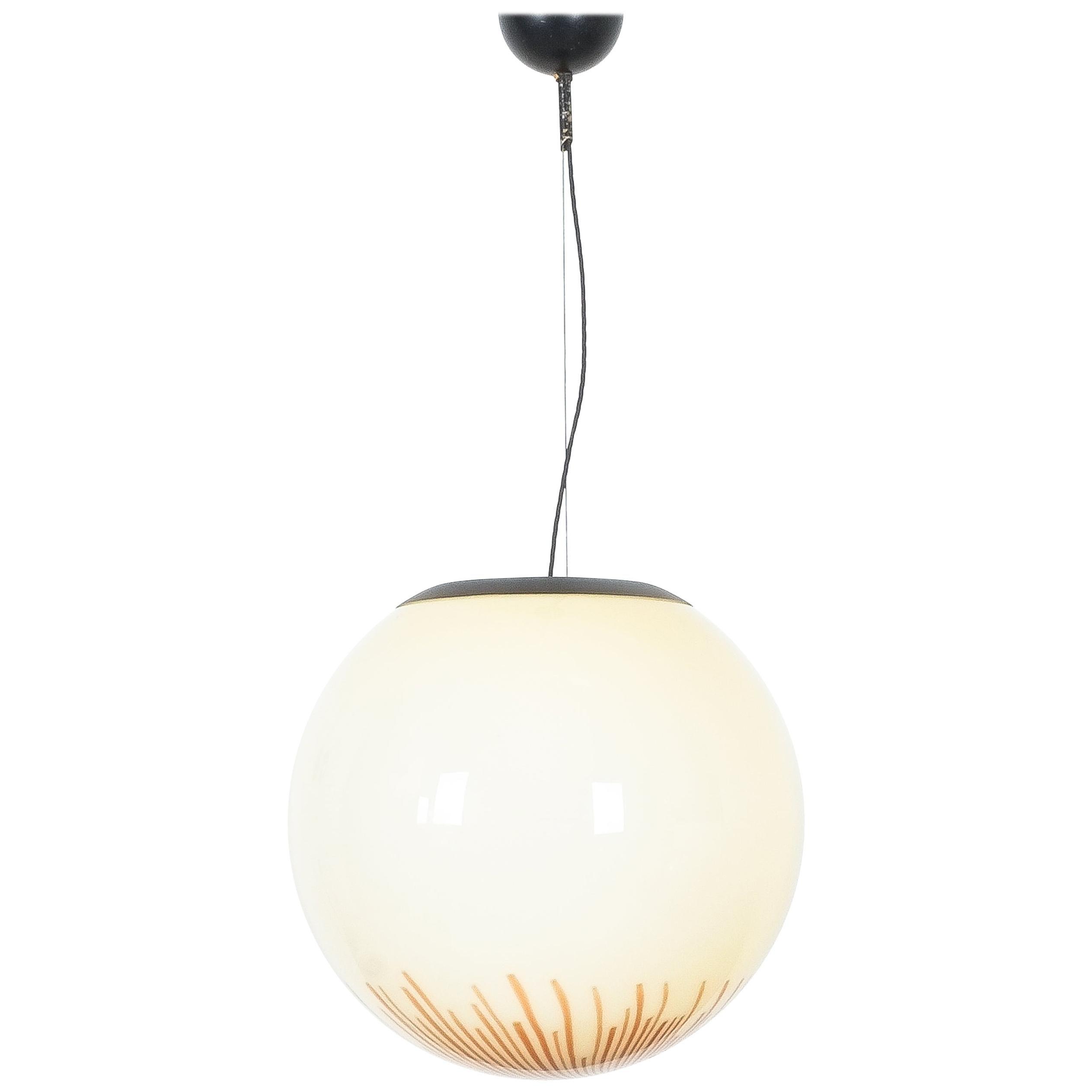 Ludovico Diaz de Santillana Glass Ball Pendant Lamp Anemone, Italy