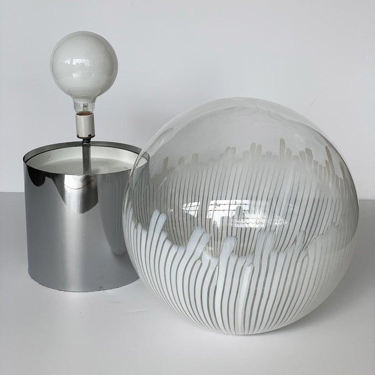 Ludovico Diaz de Santillana Murano Glass Anemoni Table Lamp for Venini For Sale 3