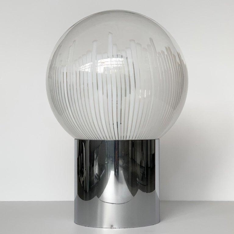 Mid-Century Modern Ludovico Diaz de Santillana Murano Glass Anemoni Table Lamp for Venini For Sale