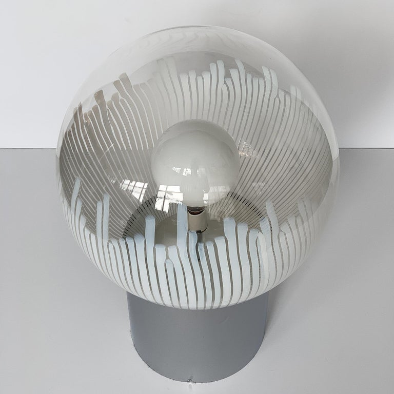 Italian Ludovico Diaz de Santillana Murano Glass Anemoni Table Lamp for Venini For Sale