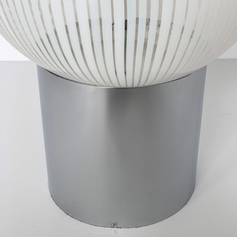Mid-20th Century Ludovico Diaz de Santillana Murano Glass Anemoni Table Lamp for Venini For Sale
