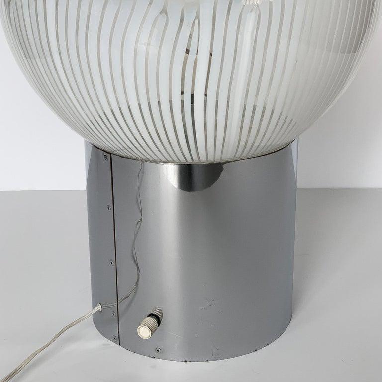 Blown Glass Ludovico Diaz de Santillana Murano Glass Anemoni Table Lamp for Venini For Sale