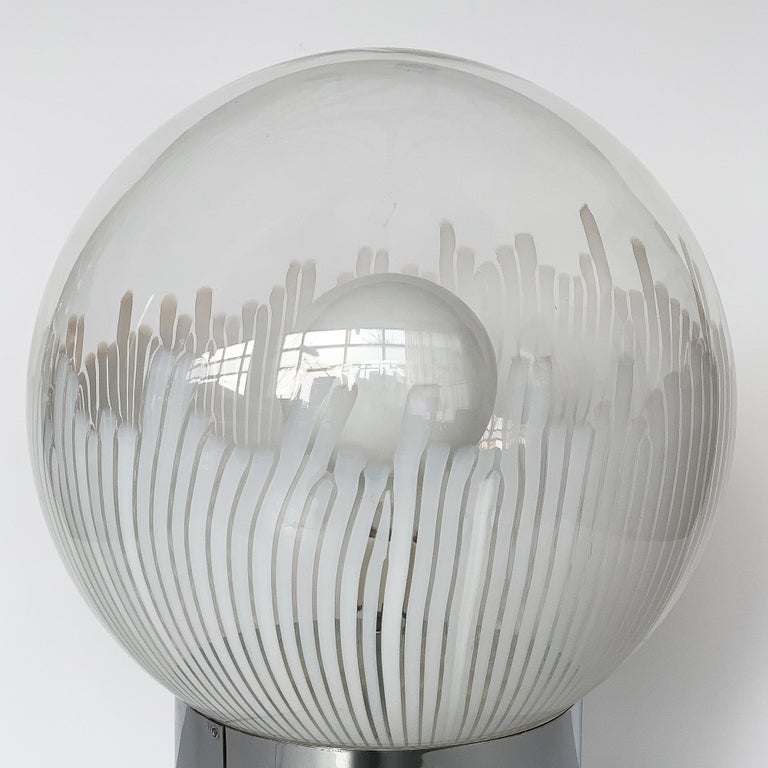 Ludovico Diaz de Santillana Murano Glass Anemoni Table Lamp for Venini For Sale 1
