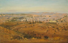 Jerusalem by Ludwig Blum, landscape painting, figurative art