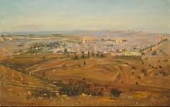 Jerusalem by Ludwig Blum, landscape painting, figurative art