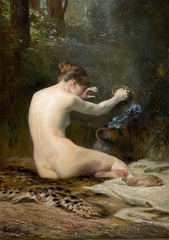 SPOOKY Antique PANDORAS BOX Female Academic Orientalist Mythological Nude Demons