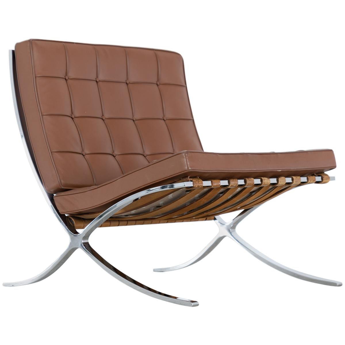 Ludwig Mies van der Rohe, Barcelona Chair, 1962 by Knoll International Leather