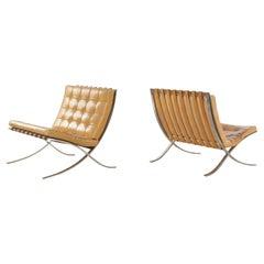 Ludwig Mies Van Der Rohe Barcelona Lounge Chairs, Knoll Int, USA