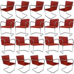 Ludwig Mies van der Rohe for Knoll Tubular Brno Chairs Excellent 20 Available