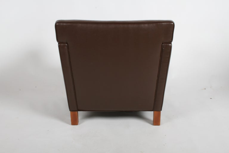 Ludwig Mies van der Rohe Krefeld Brown Leather Lounge Chair for Knoll For Sale 6