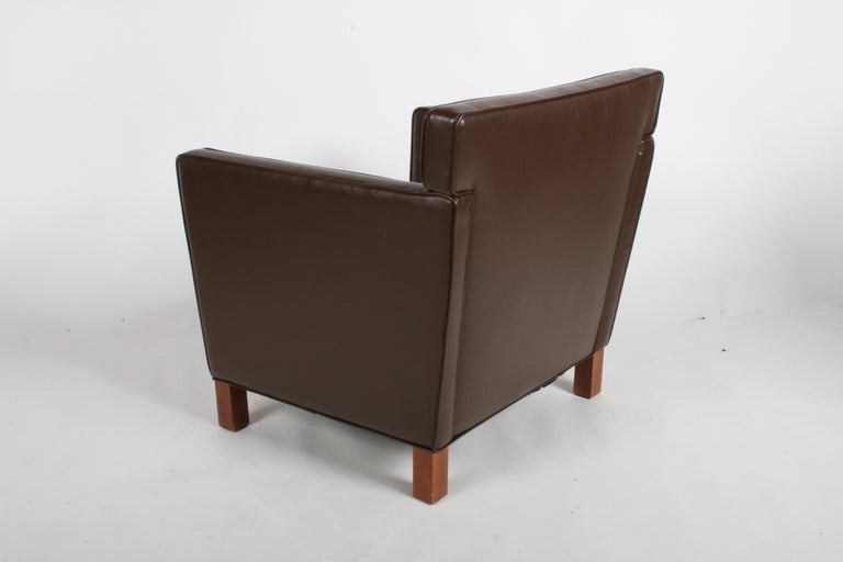 Ludwig Mies van der Rohe Krefeld Brown Leather Lounge Chair for Knoll For Sale 8