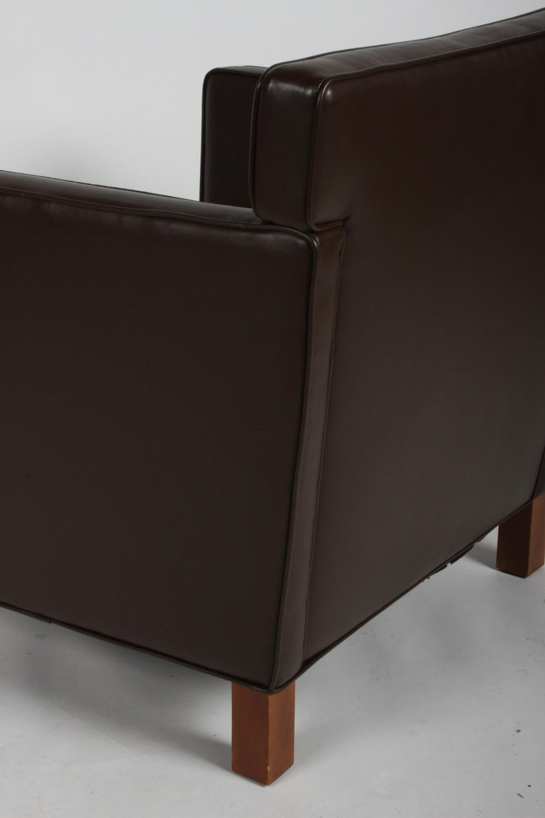 Ludwig Mies van der Rohe Krefeld Brown Leather Lounge Chair for Knoll For Sale 9