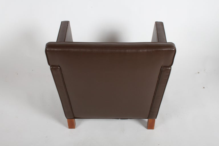 20th Century Ludwig Mies van der Rohe Krefeld Brown Leather Lounge Chair for Knoll For Sale