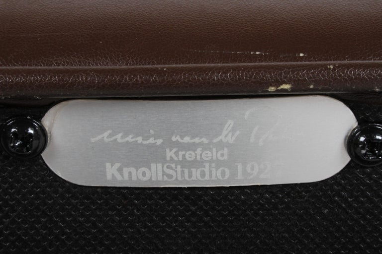 Upholstery Ludwig Mies van der Rohe Krefeld Brown Leather Lounge Chair for Knoll For Sale