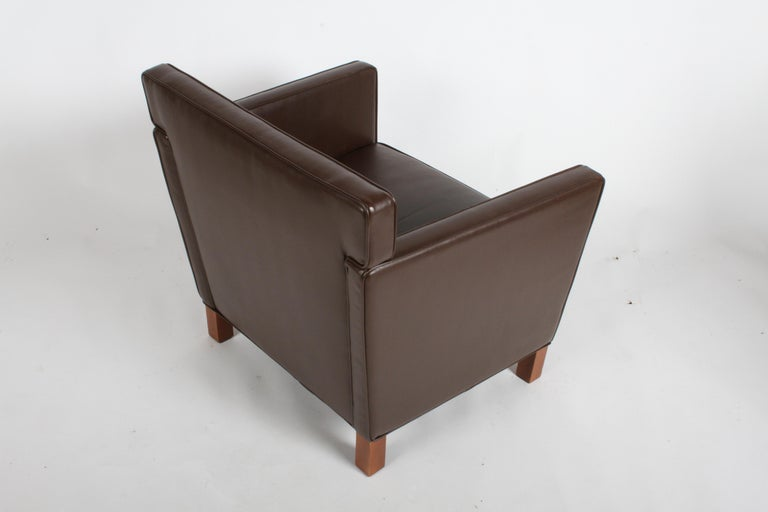 Ludwig Mies van der Rohe Krefeld Brown Leather Lounge Chair for Knoll For Sale 1
