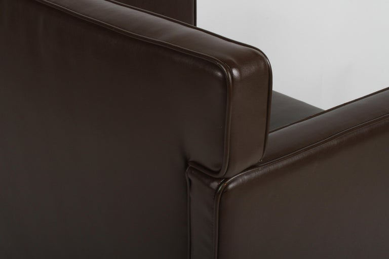 Ludwig Mies van der Rohe Krefeld Brown Leather Lounge Chair for Knoll For Sale 2